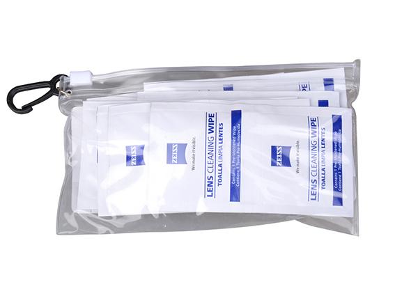 กระดาษเช็ดเลนส์คุณภาพดี ZEISS แบบพกพาพร้อมกระเป๋า ขนาด 20 ชิ้น