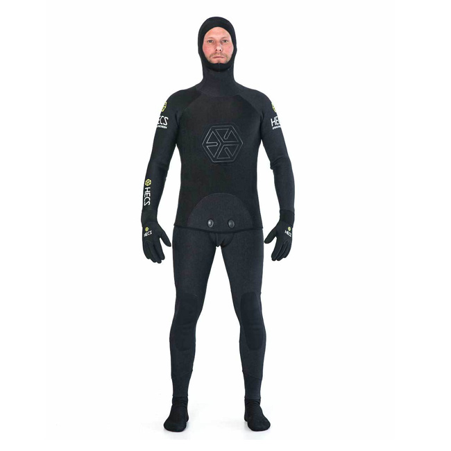 HECS STEALTH WETSUIT - BLACK 1.5MM (INCLUDES GLOVES, BOOTS)