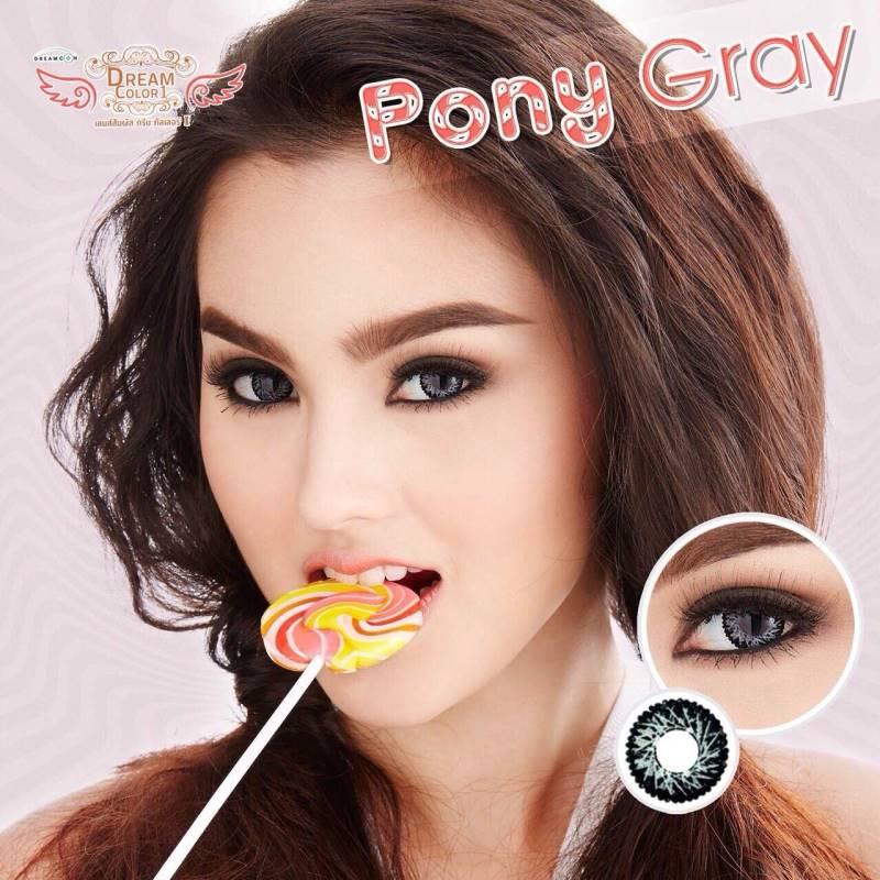 Pony Gray Dreamcolor1 คอนแทคเลนส์ ขายส่งคอนแทคเลนส์ Bigeyeเกาหลี ขายส่งตลับคอนแทคเลนส์ ขายส่งน้ำยาล้างคอนแทคเลนส์