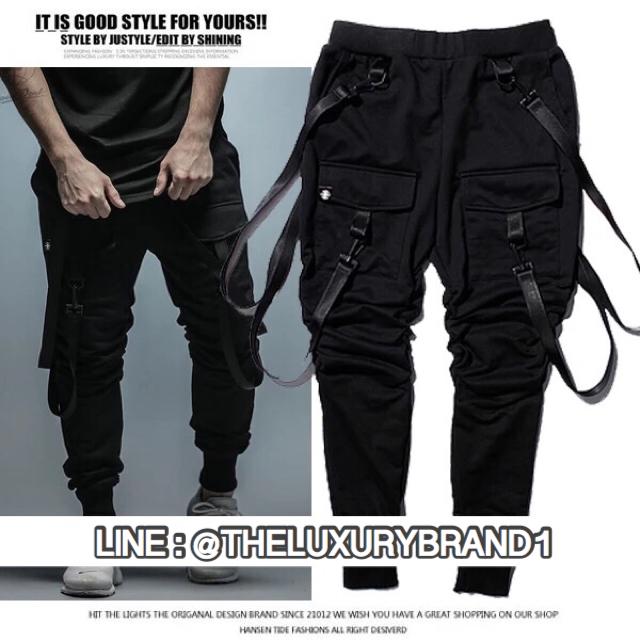 กางเกง Jogger Pants สีดำ Tricky Papa