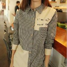 GW5712002 เสื้อเชิ้ตสาวเกาหลี ลายสก็อตเก๋ (พรีออเดอร์)รอสินค้า 3อาทิตย์หลังโอนเงิน