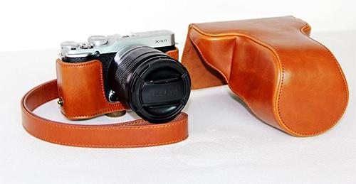 Case หนัง สีน้ำตาล สำหรับกล้อง FUJI X-M1 และ X-A1 X-A2