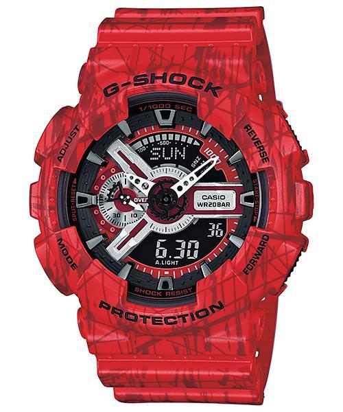 นาฬิกา คาสิโอ Casio G-Shock Limited Models Slash Pattern Series รุ่น GA-110SL-4A สินค้าใหม่ ของแท้ ราคาถูก พร้อมใบรับประกัน
