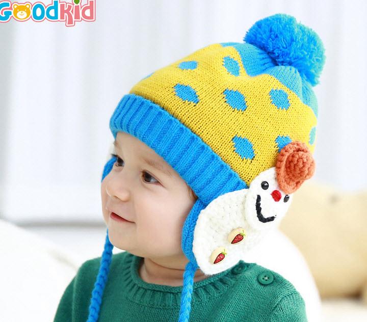 **หมวกกันหนาวตุ๊กตาหิมะ | แดง2,เหลือง2,ฟ้า2 | 3M-4Yr | 6ใบ/แพ๊ค | เฉลี่ย 120/ใบ