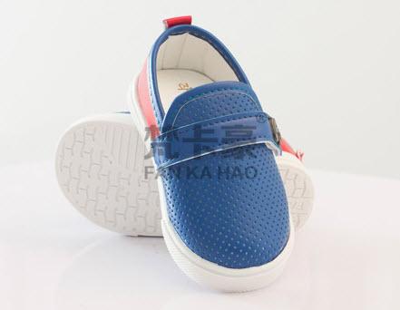 ***รองเท้าหนังเด็กหัดเดิน | น้ำเงิน | 14-18size 14= 11.5cm | 5คู่/แพ๊ค | เฉลี่ย 120/คู่