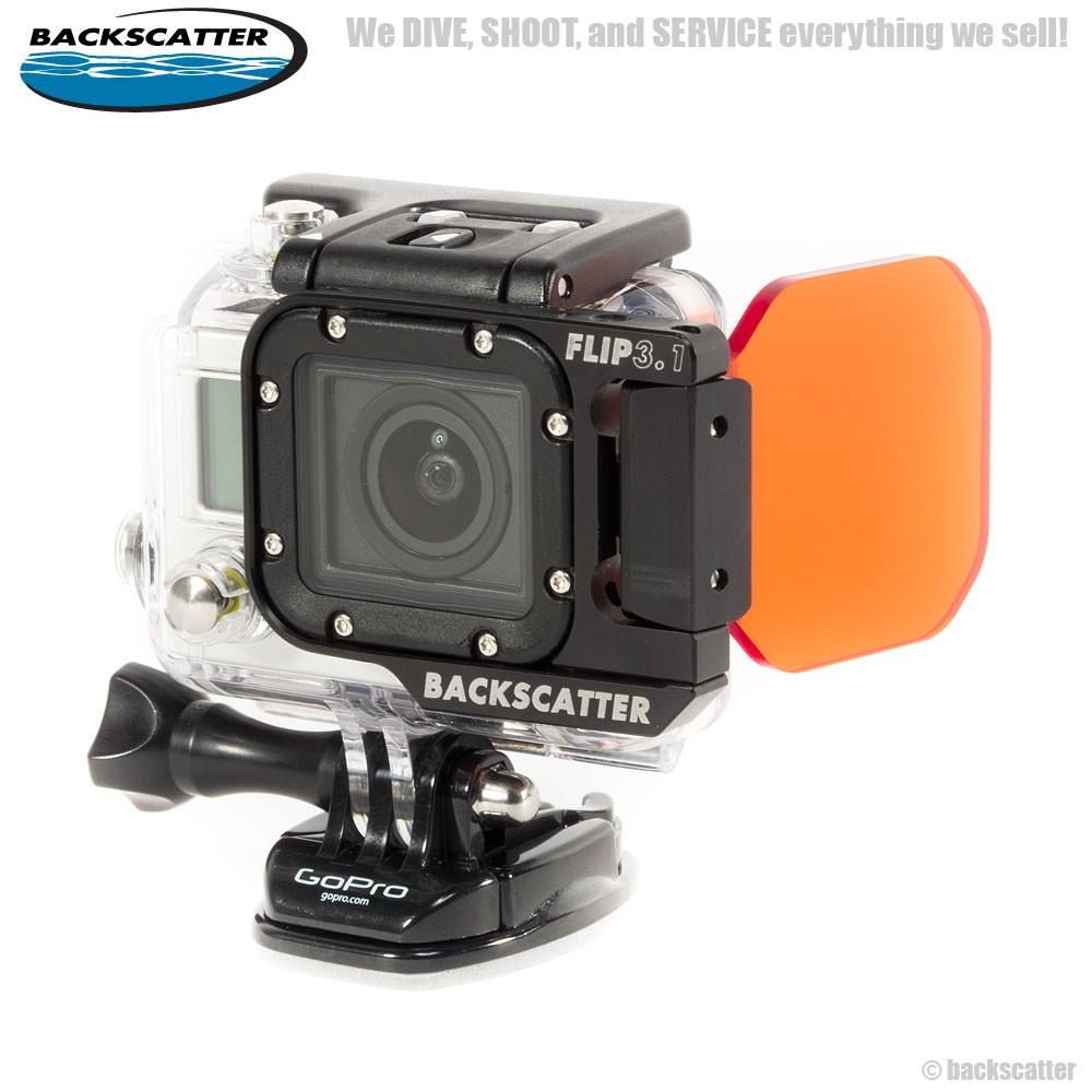 FLIP3.1 Side with Dive Filter (Red Filter สำหรับดำน้ำลึกทั่วไป 20-50 Feet) สำหรับกล้อง GoPro Hero4, Hero3+, Hero3