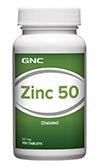NC Zinc 50mg จีเอ็นซี ซิงค์ 50 มก. 100 Tablets Code: 253920 เลขทะเบียน อย. 1C 59/43