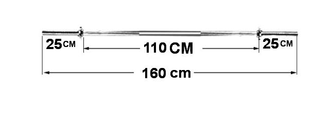 ขายคานบาร์เบลชุปโครเมี่ยมขนาด 1 นิ้ว ยาว 1.6 M.