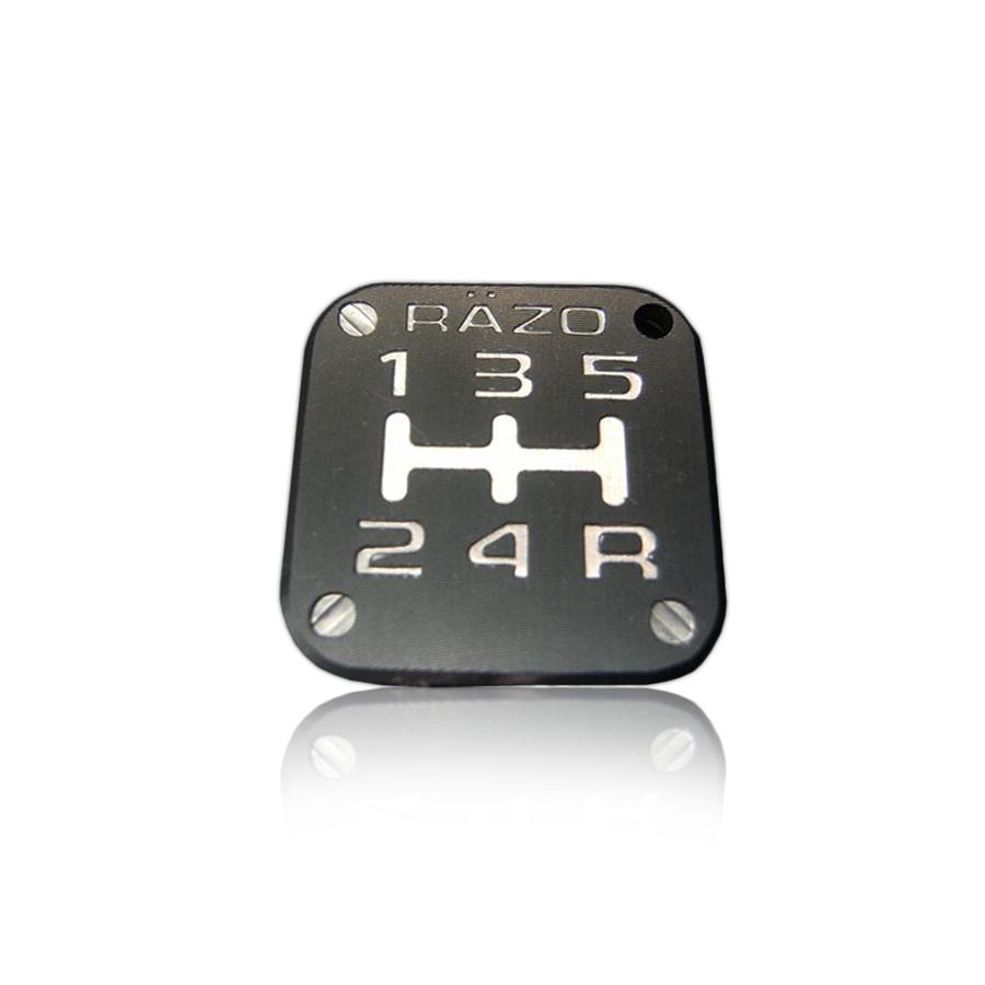 แป้นบอกเกียร์ RAZO 5G Aluminum