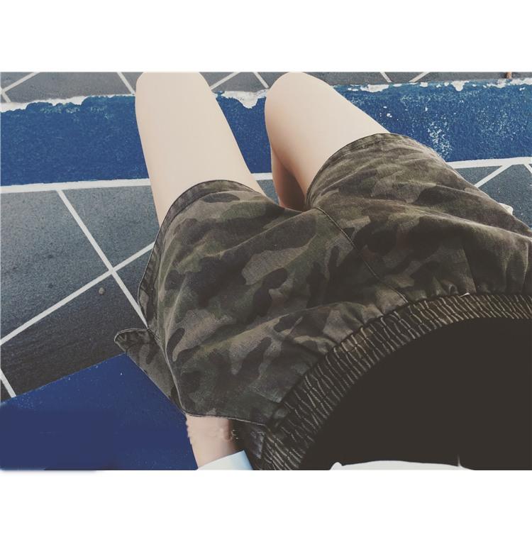 JN6104002 กางเกงเอวยาวยืดกางเกงขาสั้น