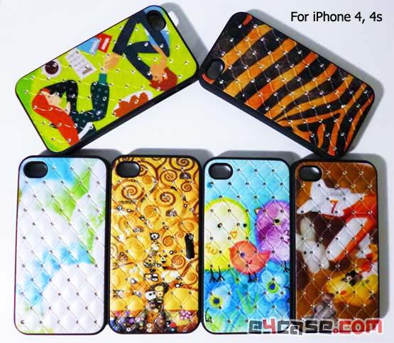เคส iPhone 4, iPhone 4s - เคสเนื้อแข็งปักเพชร