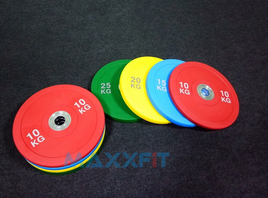 ขาย แผ่นน้ำหนักขนาด 2 นิ้ว Cpu Competition Urethane Bumper Plate
