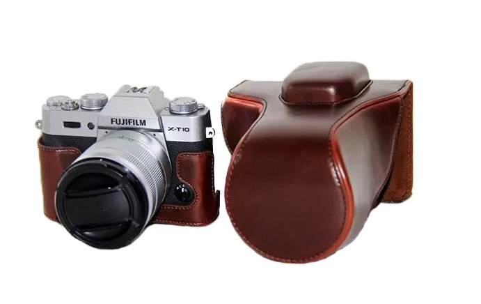 Case หนัง สีช็อคโกแลต สำหรับกล้อง FUJI X-T10