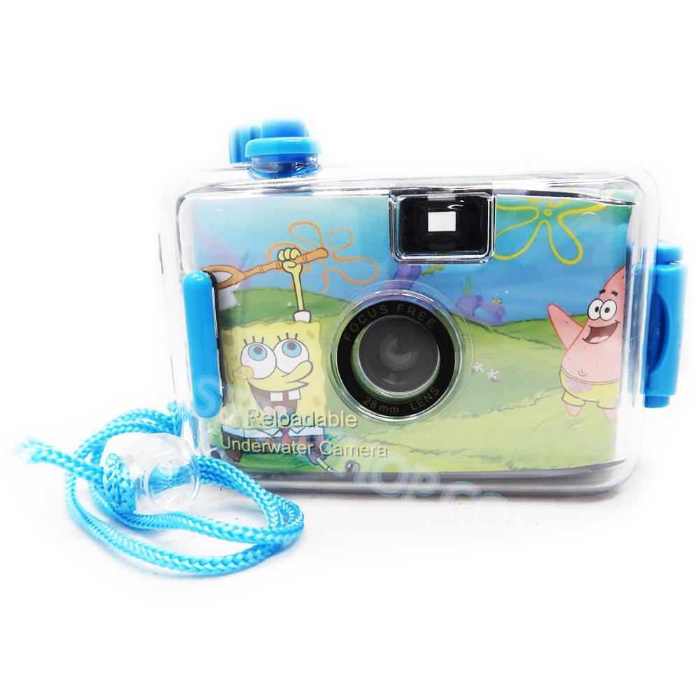 TY073 กล้องทอย Toy Camera โลโม่ สามารถถ่ายใต้น้ำได้ลึกถึง 3 เมตรไม่ต้องใช้ถ่าน ใช้ฟิล์ม Spongebob 35mm (ฟิลม์ซื้อแยกต่างหาก)