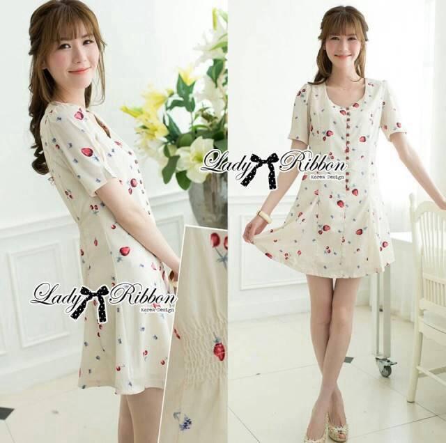 Lady Anna Sweet Mini Berries Print Chiffon Dress L122-65C14