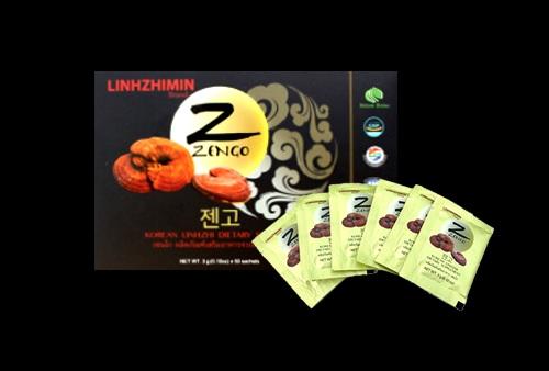 LinhZhiMin Zengo เซนโก เห็ดหลินจือสกัด บรรจุ 50 ซอง (กล่องใหญ่) บำรุงและเสริมภูมิคุ้มกันให้กับร่างกาย ทานง่าย ผงเห็ดหลินจือไม่ตกตะกอน