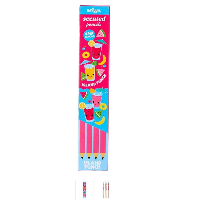 SMM048 smiggle ดินสอมีกลิ่น 5 แท่ง Double Scented - กลิ่นพันซ์