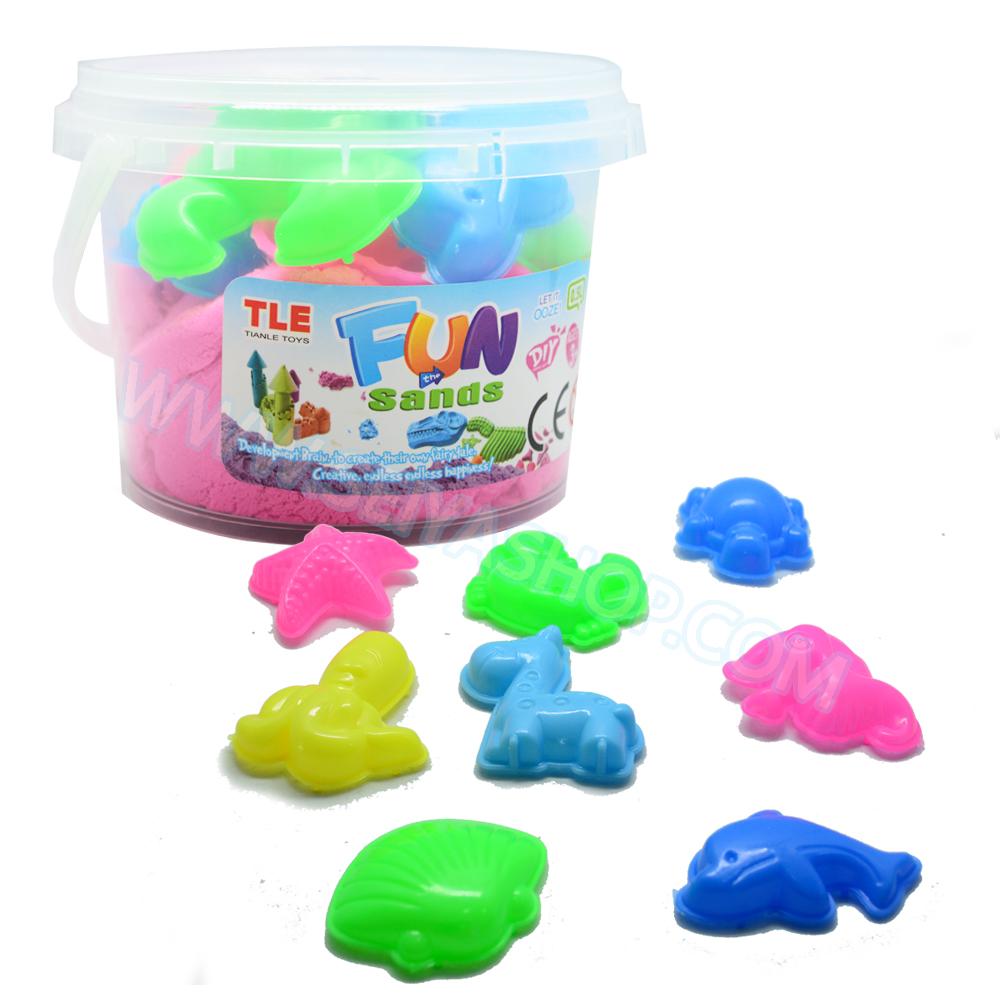 PS099- ทรายนิ่ม Soft Sand Play Sand ทรายสีชมพู หนัก 300 กรัม พร้อมแม่พิมพ์
