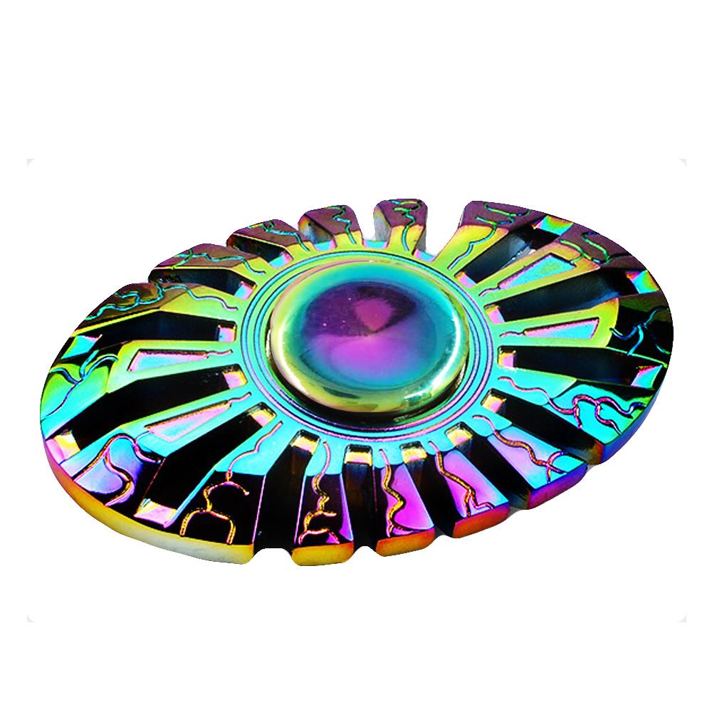 HF194 Hand spinner - GYRO (ไจโร) -Fingertip Gyroscope โลหะ สีรุ้ง