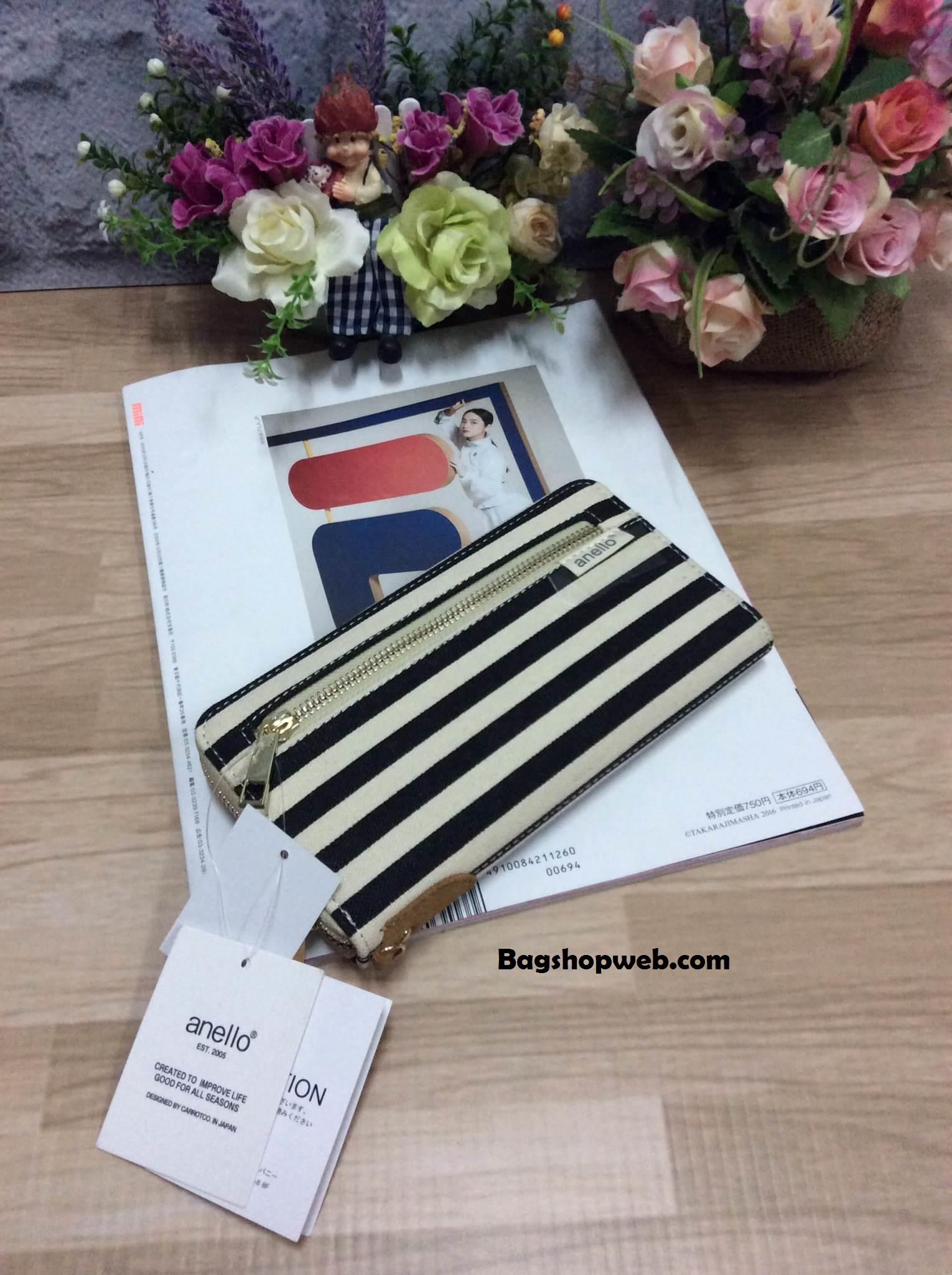 กระเป๋าสตางค์ Anello long wallet กระเป๋าสตางค์ทรงยาว แบบซิปรอบ น่ารักมากค่ะ แบบที่ 4