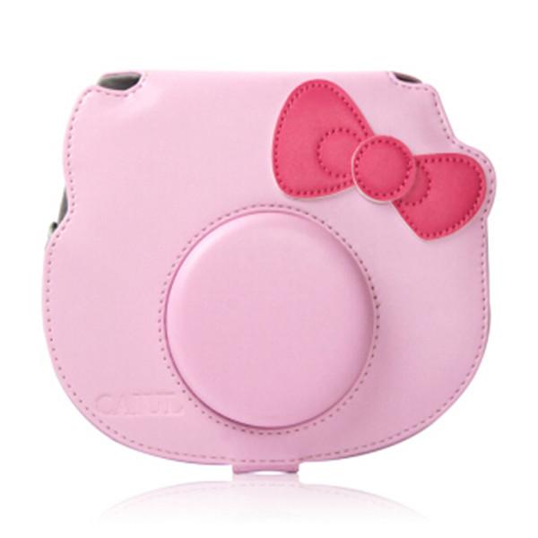 กระเป๋าใส่กล้องโพลารอยด์ Vintage Camera Case Bag For Fujifilm Instant Camera Cheki Instax Mini Hello Kitty