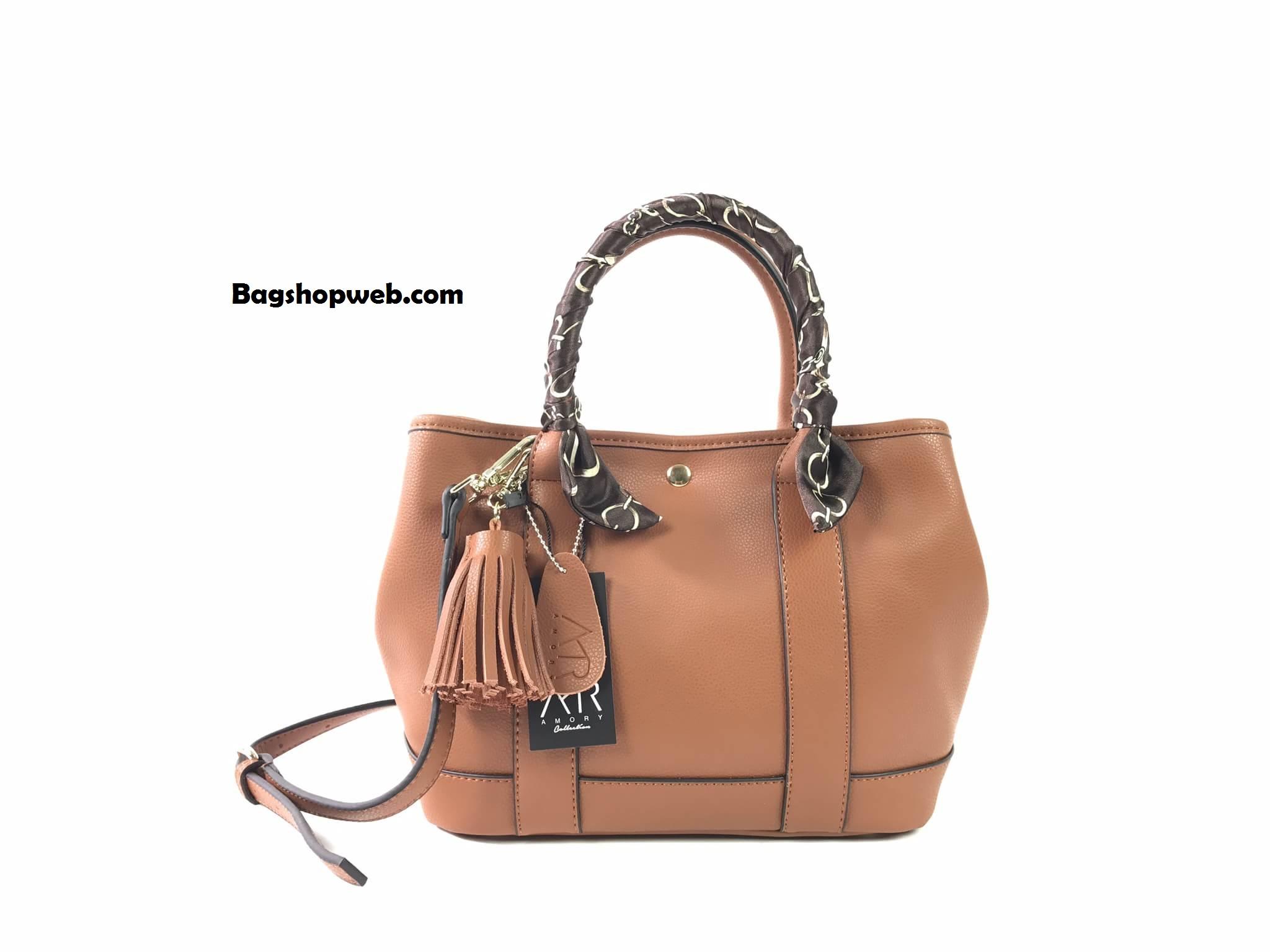 กระเป๋า Amory Twilly bag กระเป๋าทรงถือ กระเป๋าหนังแท้ ทรงสุดฮอต สีน้ำตาล