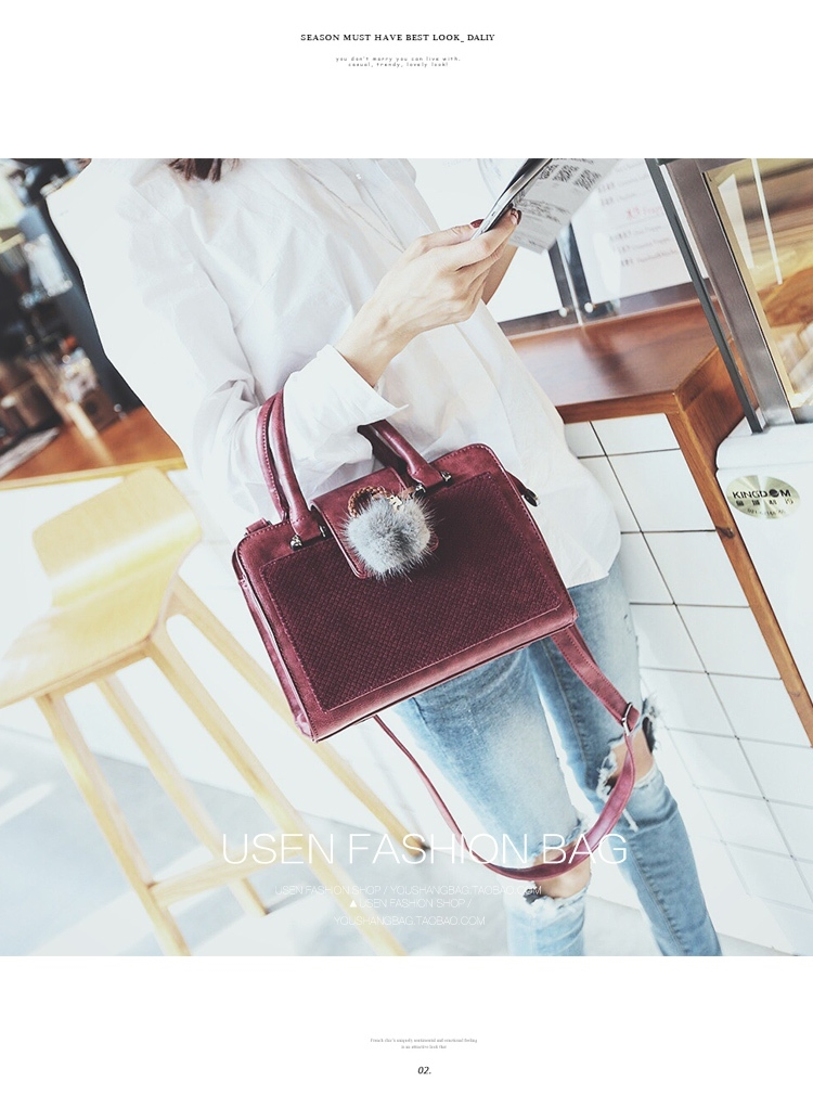 กระเป๋า Fashion Usen Import Redwine Colour ราคา 990 บาท Free Ems