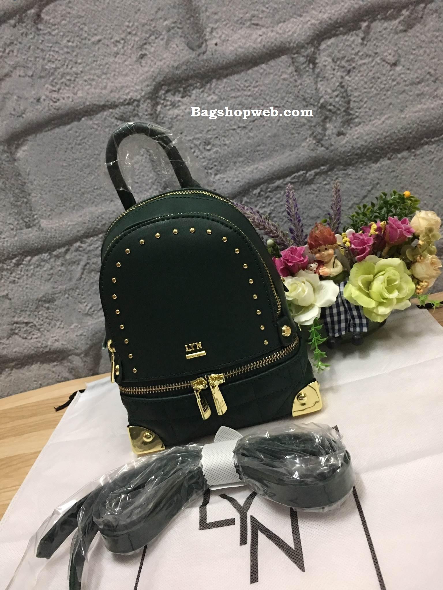 LYN EVITA BACKPACK 2017 รุ่นใหม่ชนช้อป กระเป๋าเป้ขนาดกะทัดรัด สีเขียว ราคา 1,490 บาท Free Ems