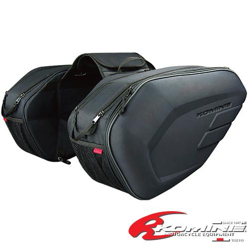 กระเป๋าท้ายรถขี่มอเตอร์ไซค์ KOMINE คาร์บอน ใส่หมวกได้