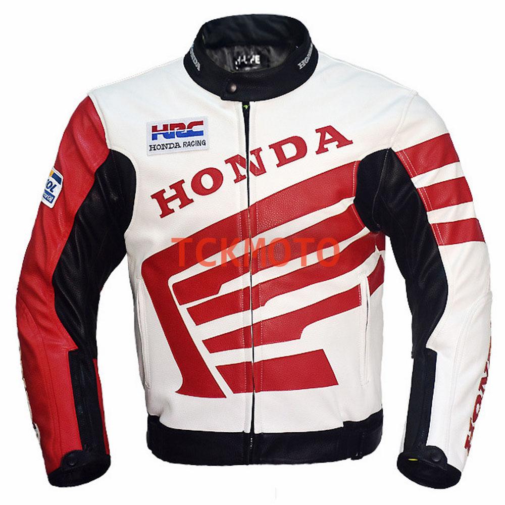 เสื้อการ์หนังฮอนด้า Honda White ผู้หญิง