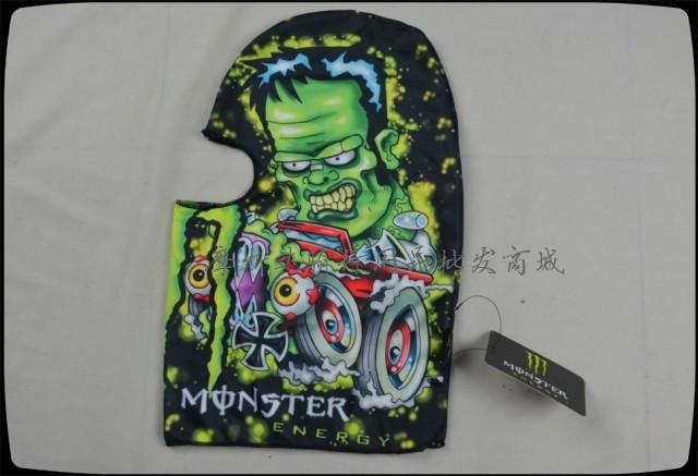 ชุดขี่มอเตอร์ไซค์ โม่งคลุมหัว Monster มีลาย4