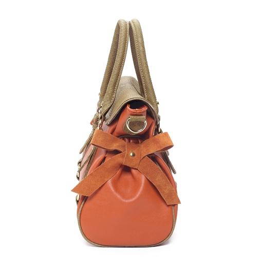 กระเป๋าถือ หนังสวย ส้มน้ำตาล คุณภาพเยี่ยม