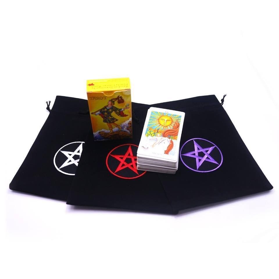 ไพ่ทาโร่ต์ พร้อมถุงผ้าลายเพนทาเคิล [Witch Queen]