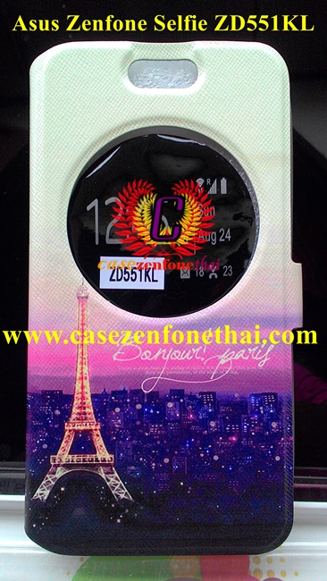เคส asus zenfone selfie ZD551KL ฝาพับ Flip Cover Night Paris