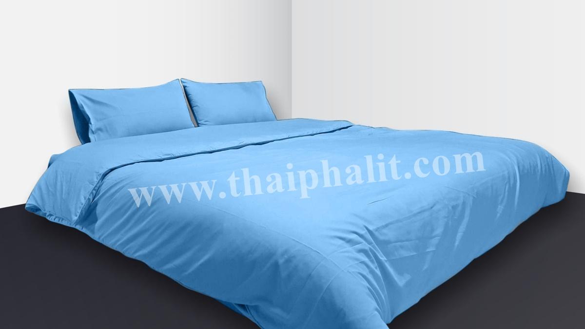 เซตผ้าปูที่นอนผ้าไมโครเทค สีฟ้ายีนส์ (เบอร์ 14)