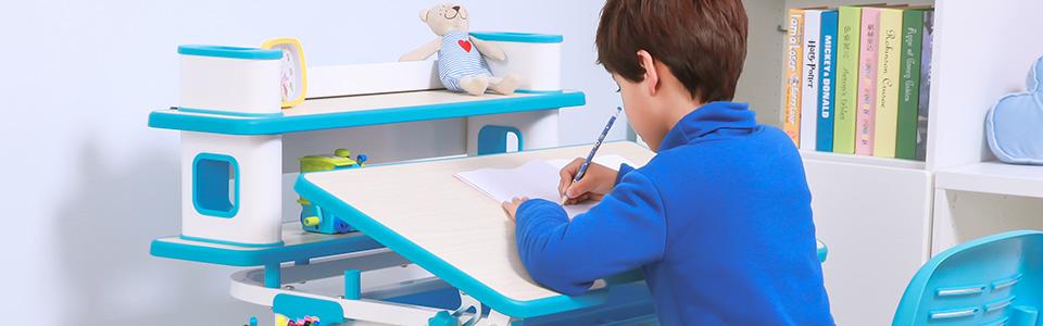 โต๊ะเขียนหนังสือเด็ก ชุดโต๊ะเด็ก แบบ Ergonomic design