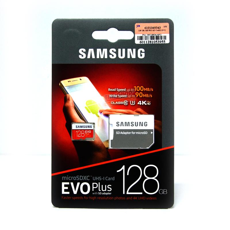 เมมโมรี่ไมโครเอสดีการ์ด ++ 128 GB Micro-SD Samsung Evo Plus (Class10) ราคา 1890.-
