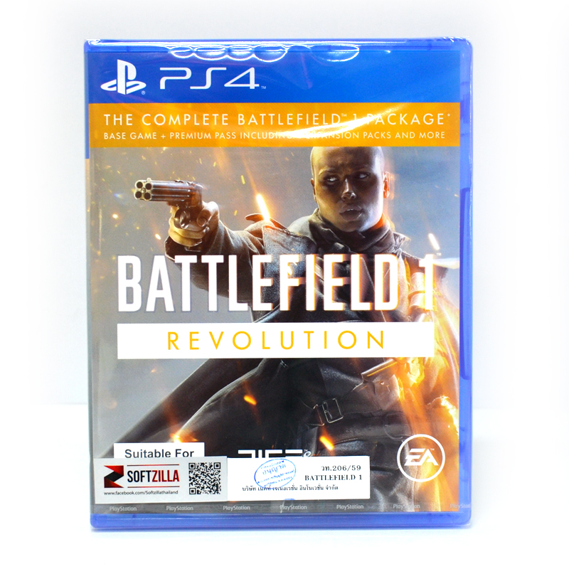PS4™ Battlefield 1 Revolution Edition Zone 3 Asia English ราคา @ 1890.- // ส่งฟรี EMS