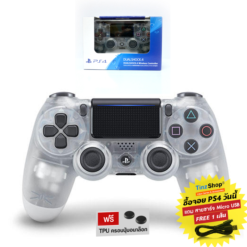 DUALSHOCK®4 Wireless Controller :: Crystal CUH-ZCT2G 17 (สีขาวใส)