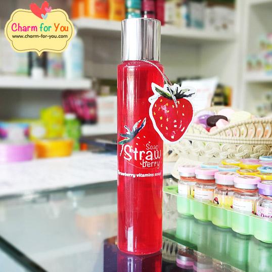 เจลล้างหน้าสตอเบอรี่ strawberry vitamins soap ขายเครื่องสำอาง อาหารเสริม ครีม ราคาถูก ปลีก-ส่ง