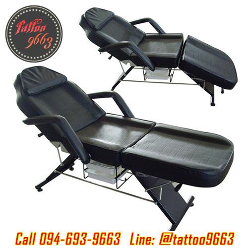 เตียงสักลาย เตียงนอนสัก เตียงพับได้ เตียงพกพา สำหรับการสัก นวด สปา Multifunctional Foldable Portable Massage Tattoo Parlor Spa Bed (สีดำ BLACK)