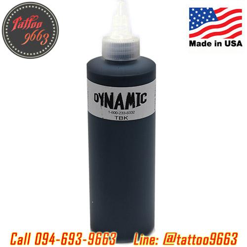 [DYNAMIC USA] หมึกสักไดนามิคสีดำเข้ม3เท่า หมึกสักลาย สีสักลายสีดำ อเมริกาแท้ ขนาด 8 ออนซ์ TATTOO INK (TRIPLE BLACK - 8OZ/245ML)