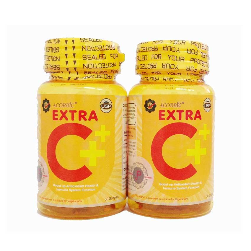 เอ็กซ์ตร้า ซี พลัส ซอฟท์เจล (วิตามินซี) Extra C+ Acorbic Softgel by JP Natural