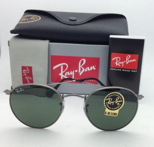 598e07191c4 แว่น Ray Ban RB3447 029 Round Metal Gunmetal G-15 ของแท้ ราคาพิเศษ ...