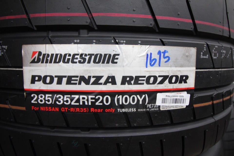 BRIDGESTONE POTENZA RE070R RFT 255/40-20 เส้นละ 28800