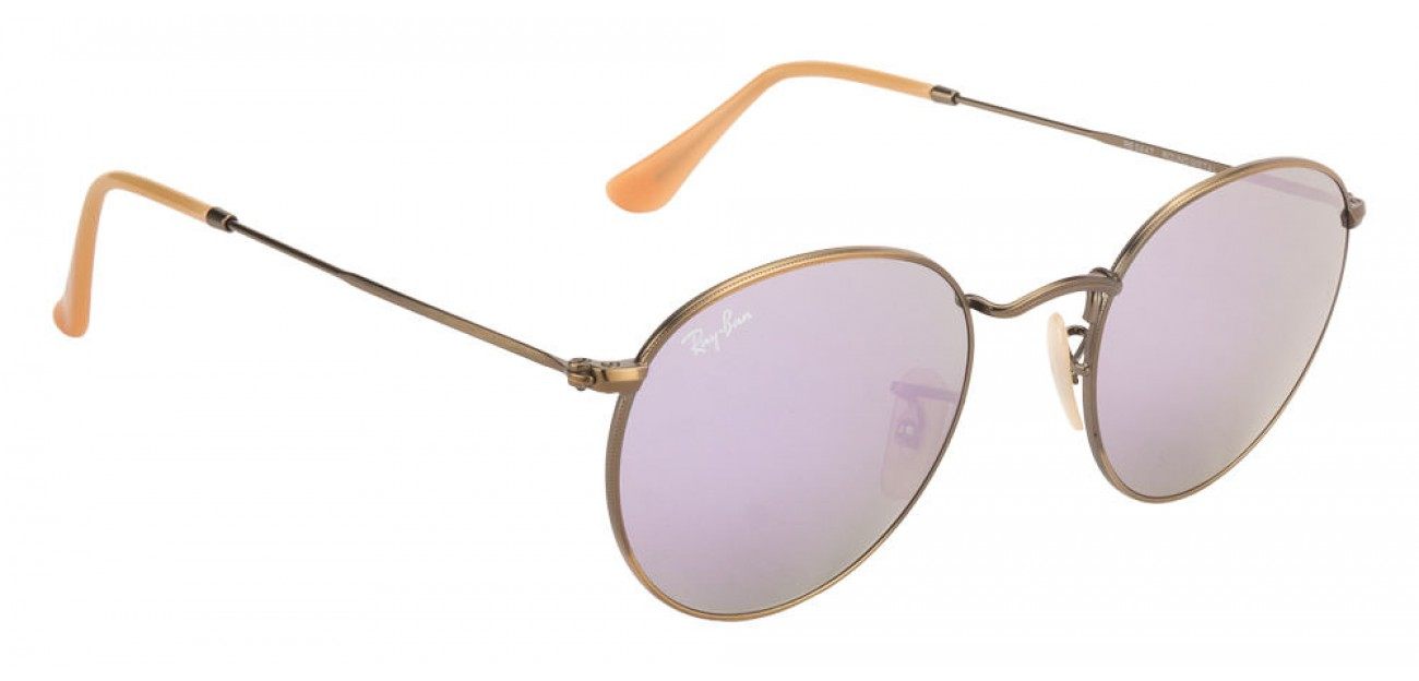 Ray Ban RB3447 167/4K Round metal lilac mirror 50mm