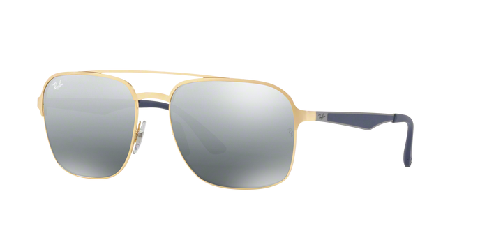 Ray Ban RB3570 001/88 GOLD Grey Mirror Silver Gradient