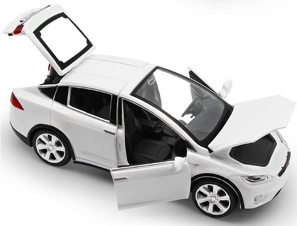 พร้อมส่ง รถโมเดล รถเหล็ก มีไฟมีเสียง Tesla Model X 1:32 มี โปรโมชั่น
