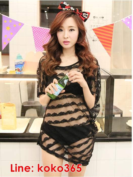 บิกินี่ Bikini-Fairy Sweet Lace (Black) ชุดว่ายน้ำแบบเซ็ท