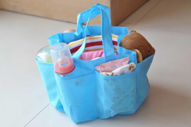 กระเป๋าช่องจัดระเบียบ Bag in bag สีฟ้า